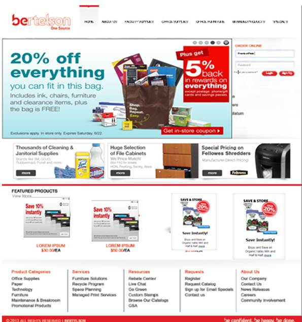 Superieur Website Design U2013 Designed, Programmed, And Developed A Website Environment  For Bertelson That Focuses On Their Office Supply Products.
