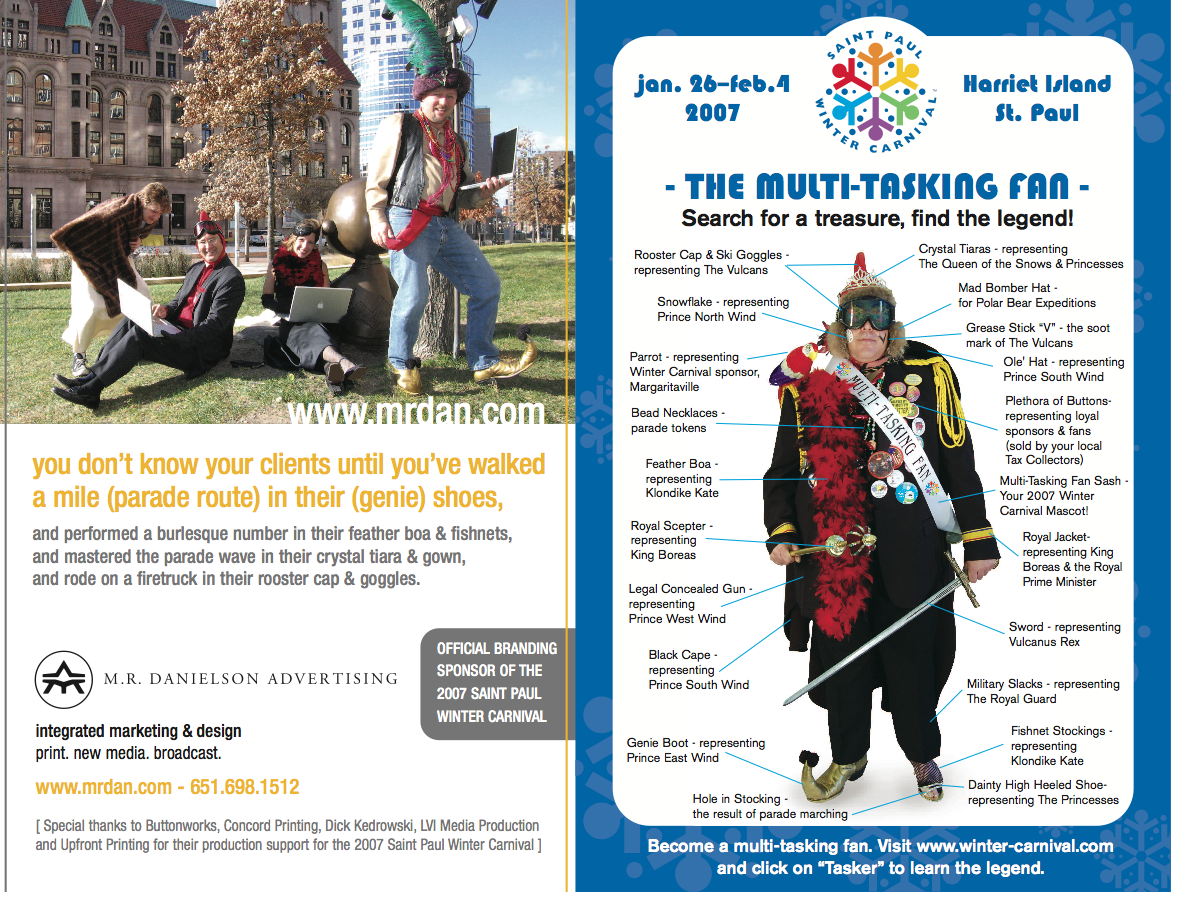 85f76eb5c7 Created and developed a complete campaign for the Winter Carnival to draw  attention to their events that they are offering.