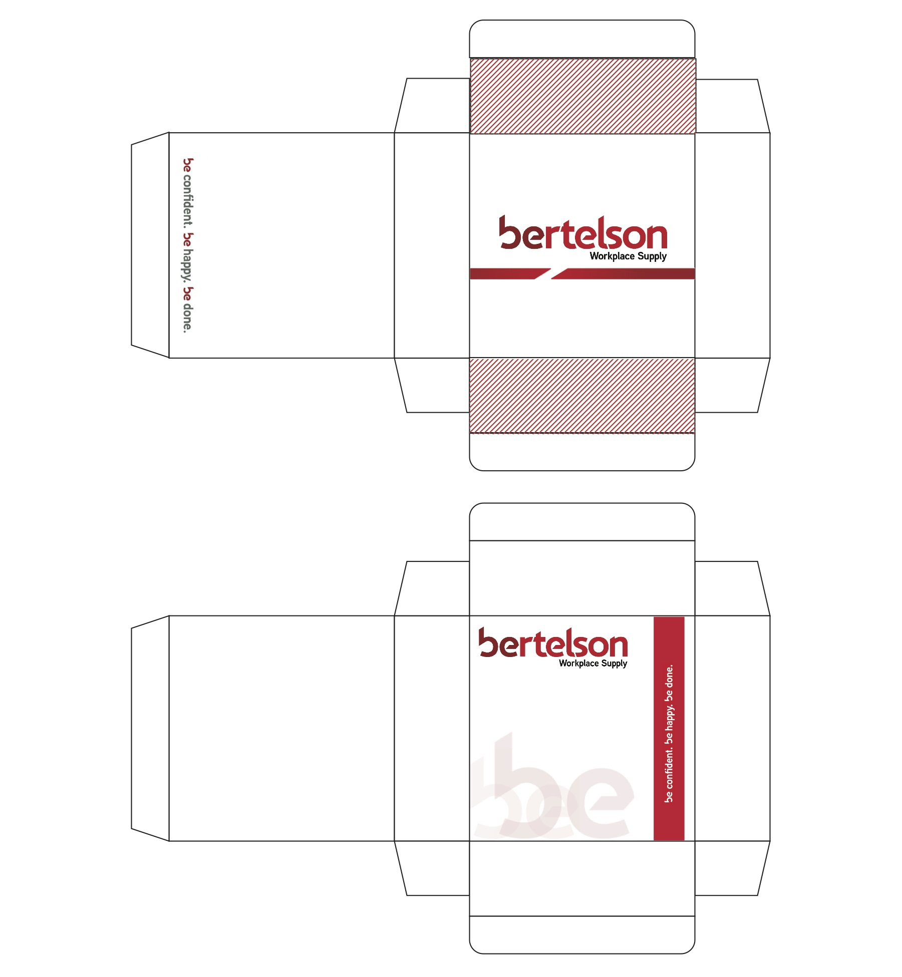 Superieur Package Design U2013 Created And Designed A Container For Bertelson Office  Supplies With Printed Graphics To Send Out The Annual Office Catalogs.